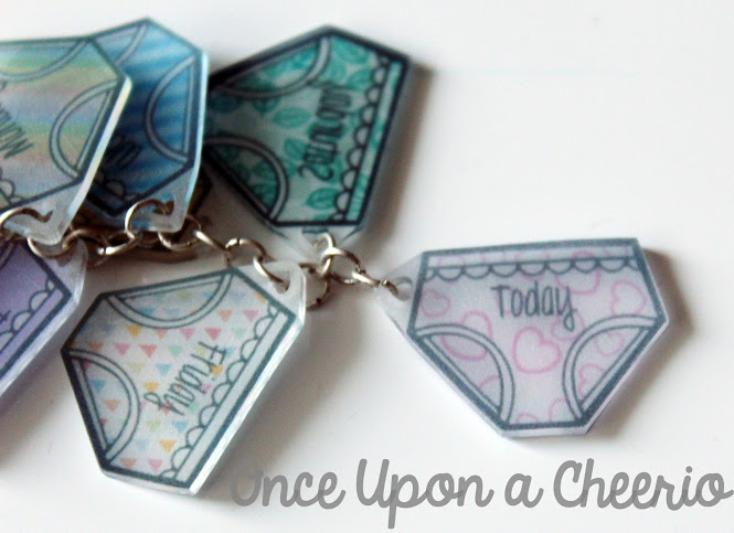 Shrink Plastic (Shrinky Dink) Underwear Planner Charms