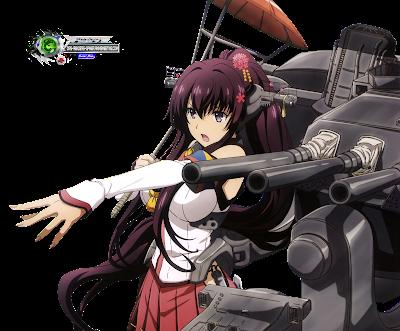 Kantai collection yamato hyper kakoiii attack hd render - Yamato render ...