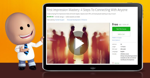 [100% Off] First Impression Mastery: 4 Steps To Connecting With Anyone| Worth 35$