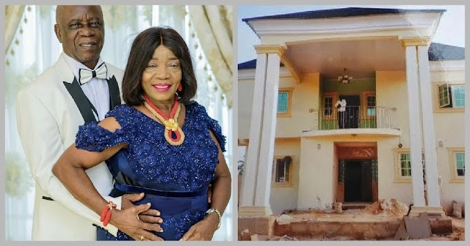 Linda Ikeji built awesome house for her parents