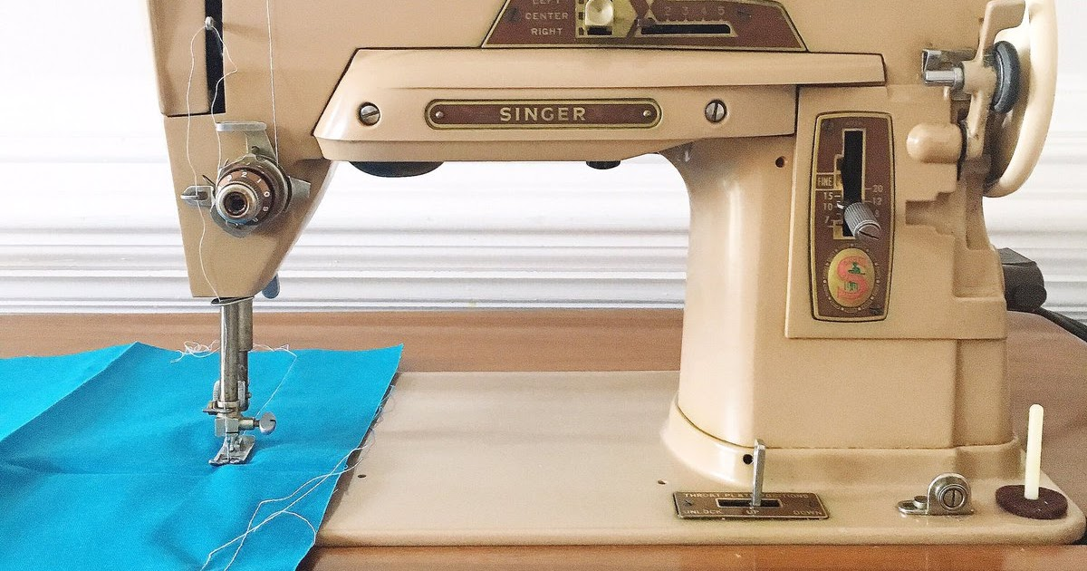 Thrifty Tuesday Vintage Sewing Machine GoGo Kim Gorgeous Goodwill Sewing Machine