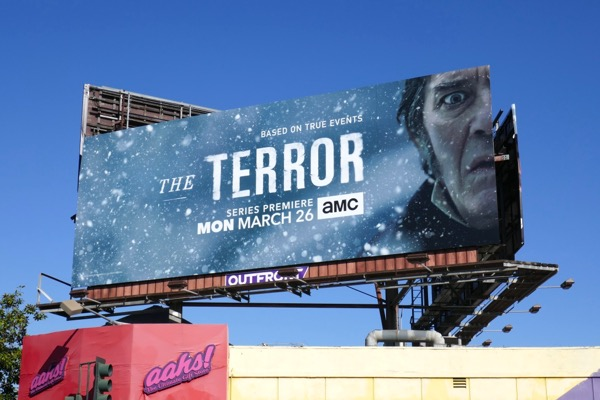 Terror series launch billboard
