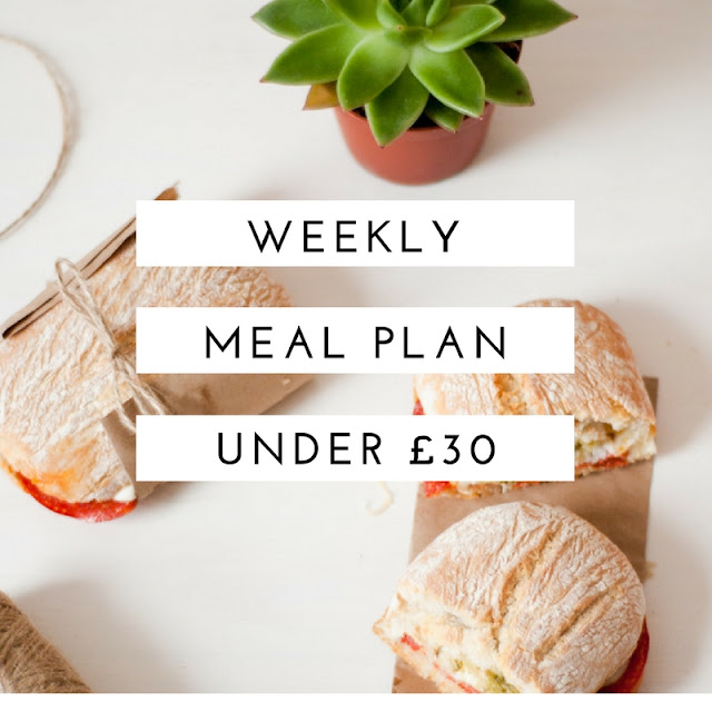 Weekly Meal Plan, Budget, Healthy and Under £30