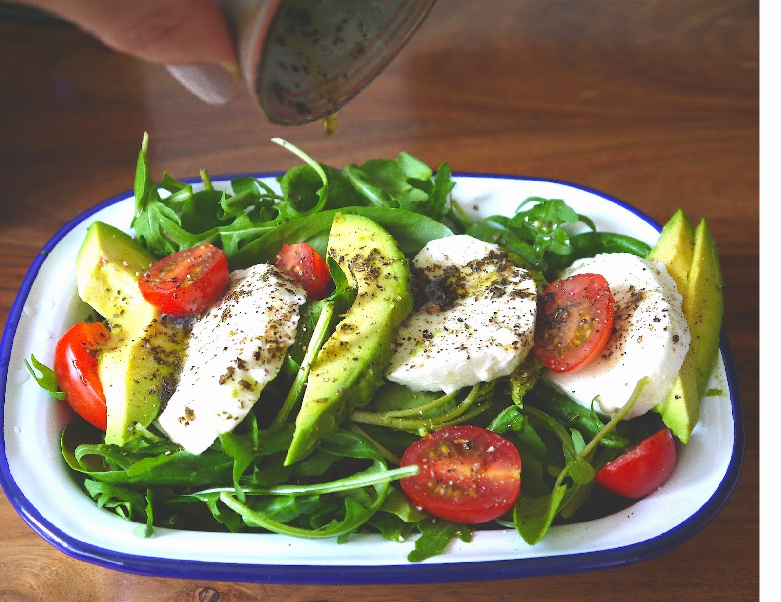 Caprese Salad Recipe The Betty Stamp Lemon Basil Dressing