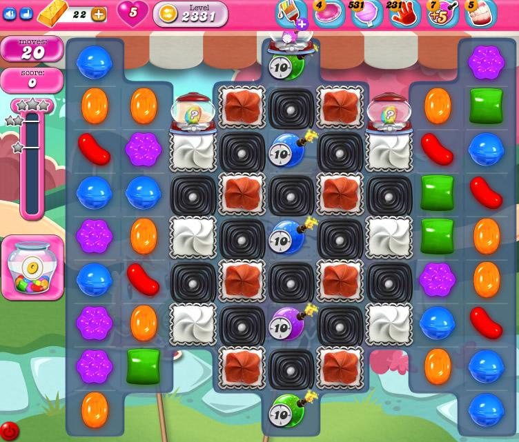 Candy Crush Saga level 2331