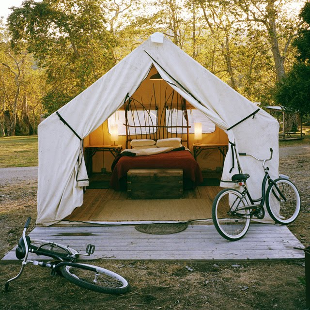Sleeping in the Aviary: Safari Tent Camping, El Capitan Canyon