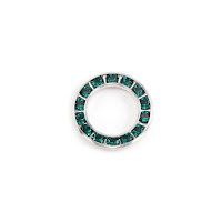 Swarovski Crystal Channel Set Circle (Emerald - MAY)