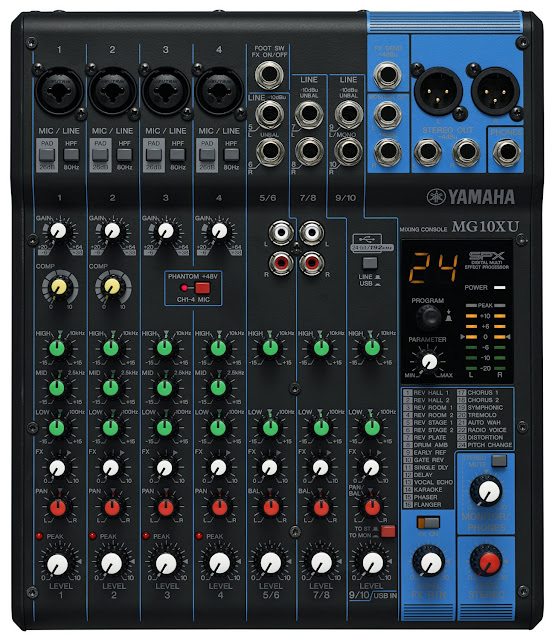 Harga Mixer Yamaha MG10XU 4 Channel Mic