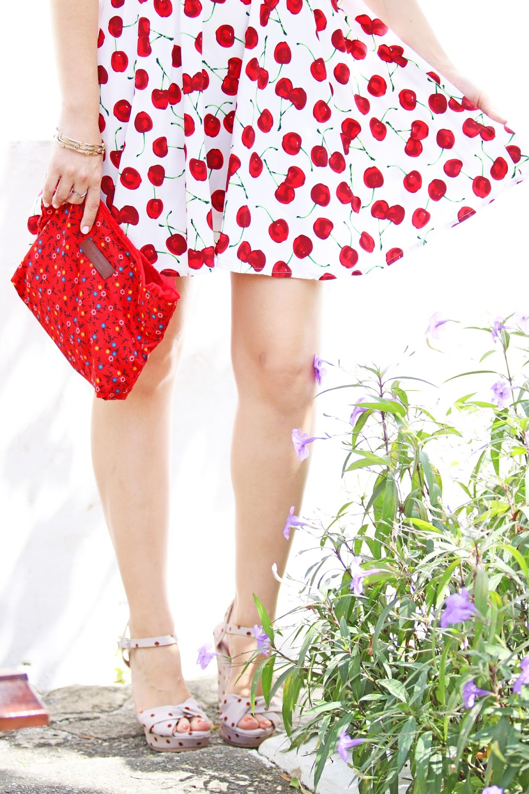 Cute cherry dress outfit for Summer