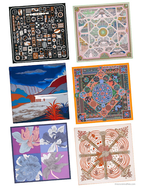 Six Hermes scarves from Spring 2017