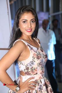 Actress Madhu Shalini Stills in Floral Short Dress at RGV Shiva to Vangaveeti Event  0058.JPG