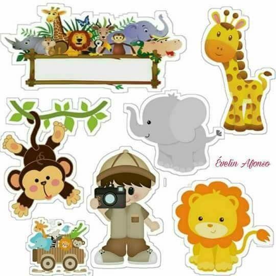 Safari Babies: Free Printable Cake Toppers. - Oh My Baby!
