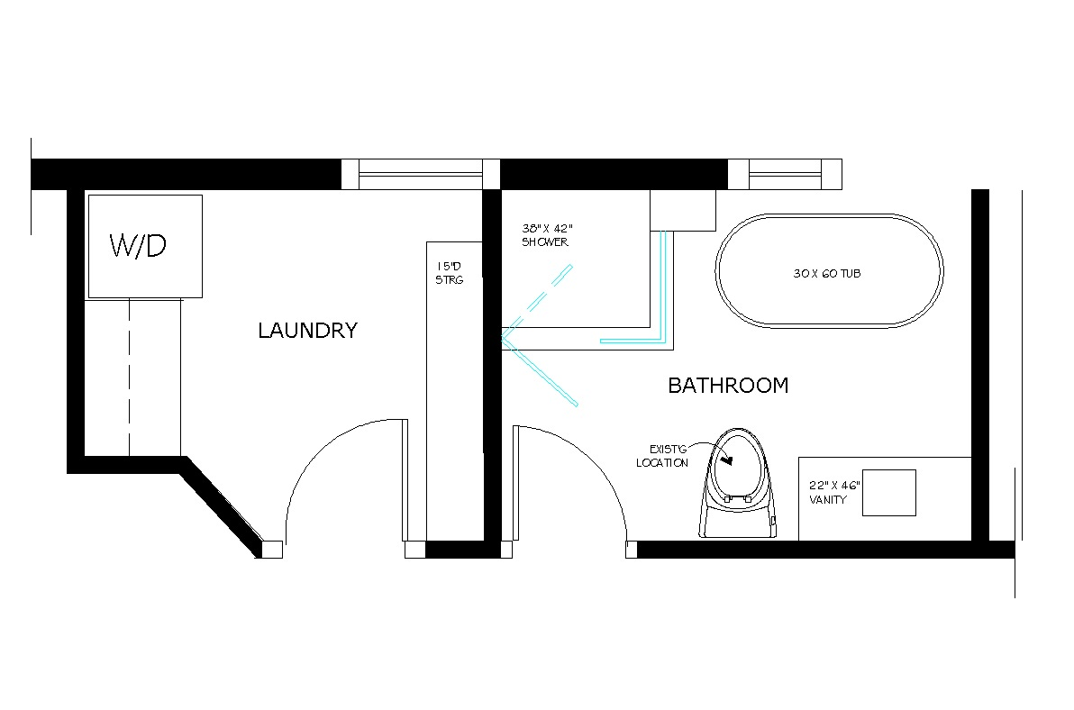 Small 3 4 Bathroom Floor Plans: Bathroom Floor Plan Drawings