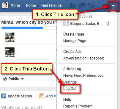 How Do I Logout Of Facebook Mobile