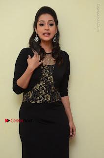 Telugu Actress Manasa Manohar Stills in Black Long Dress at Naku Nene Thopu Turumu Trailer Launch  0014.JPG
