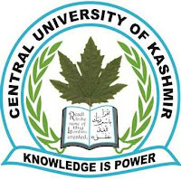 Notification regarding submission of online application forms for admission to 5 year Integrated B.A LLB and M.A Comparative Religion - Central University of Kashmir
