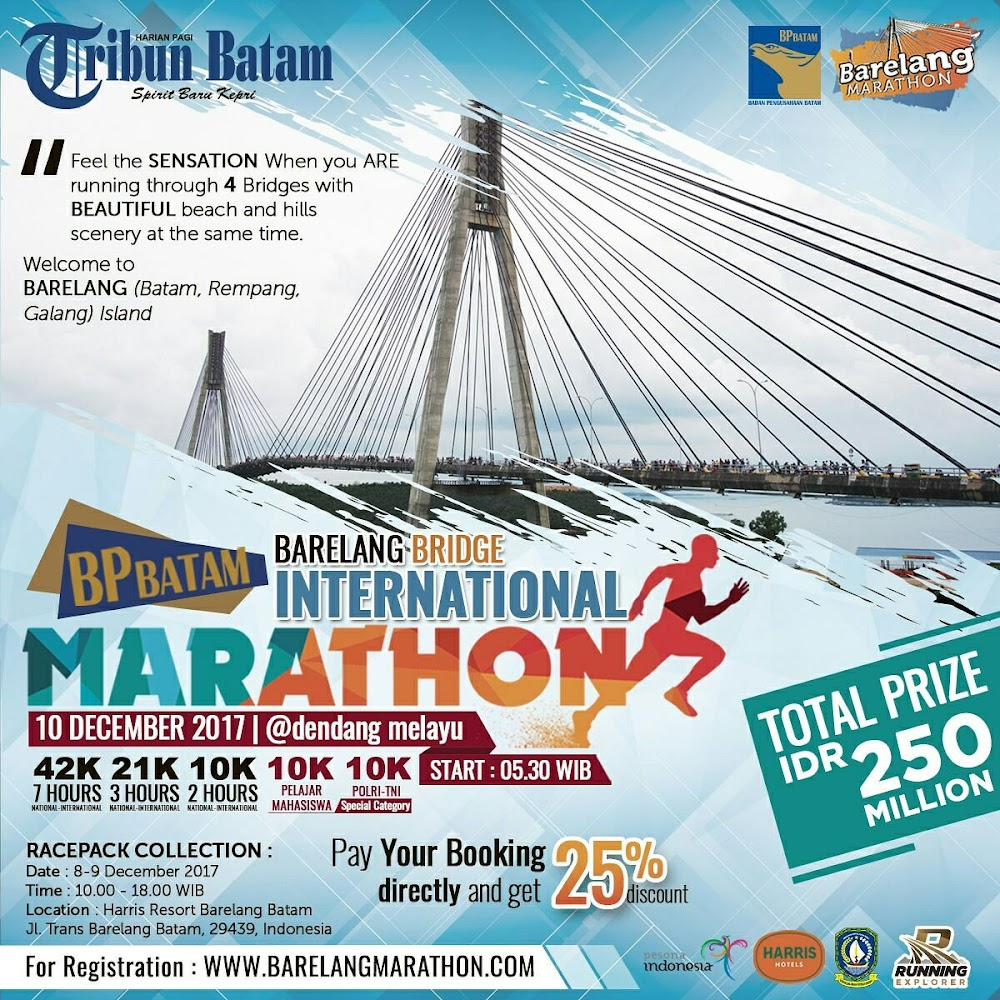 Barelang Bridge Marathon • 2017