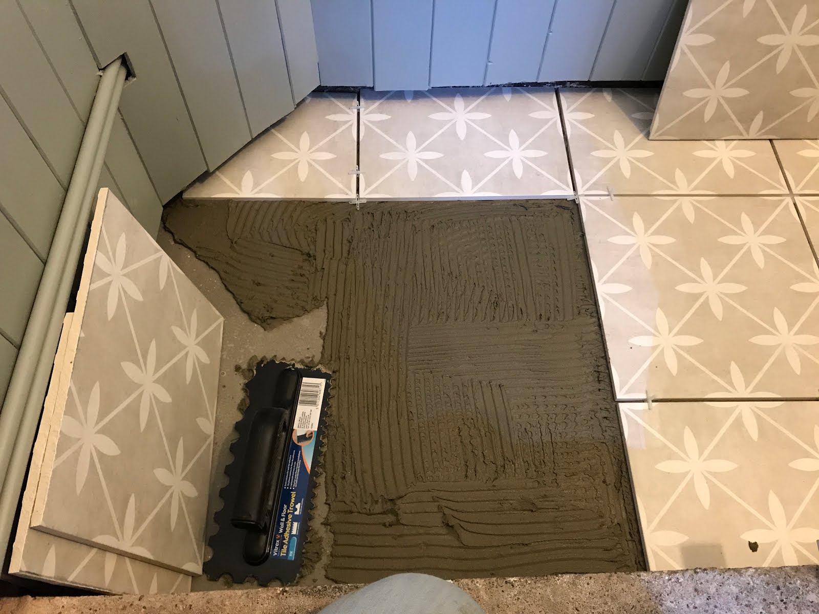 DIY tiling with laura ashley tiles