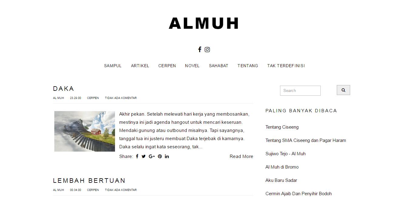 Almuh.com - Ku Tulis, Ku Posting, Kau Baca Sendiri