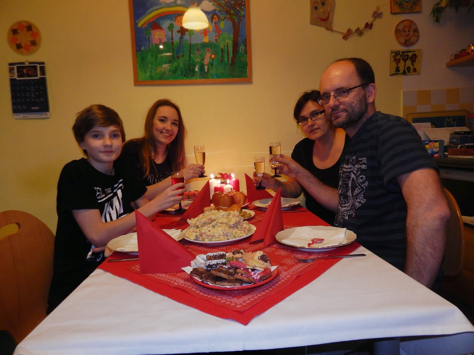 Rodinná fotka ze Štědrého dne