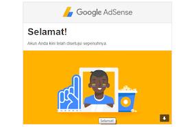 Di Terima Google Adsense