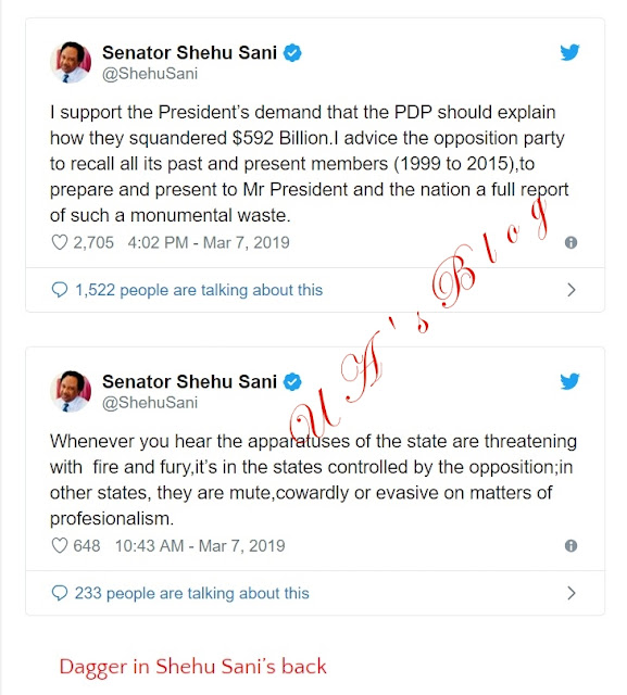 Shehu Sani backs Buhari's call that PDP should explain how they squandered $592bn