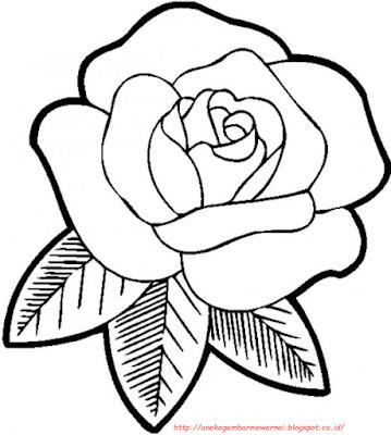 15 Gambar Mewarnai Bunga Mawar Untuk Anak Paud Dan Tk Zona Ilmu 2