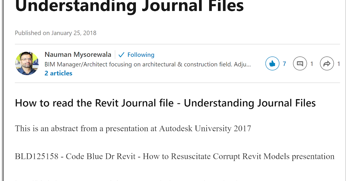 BIM Chapters: Working With Revit's Journal File