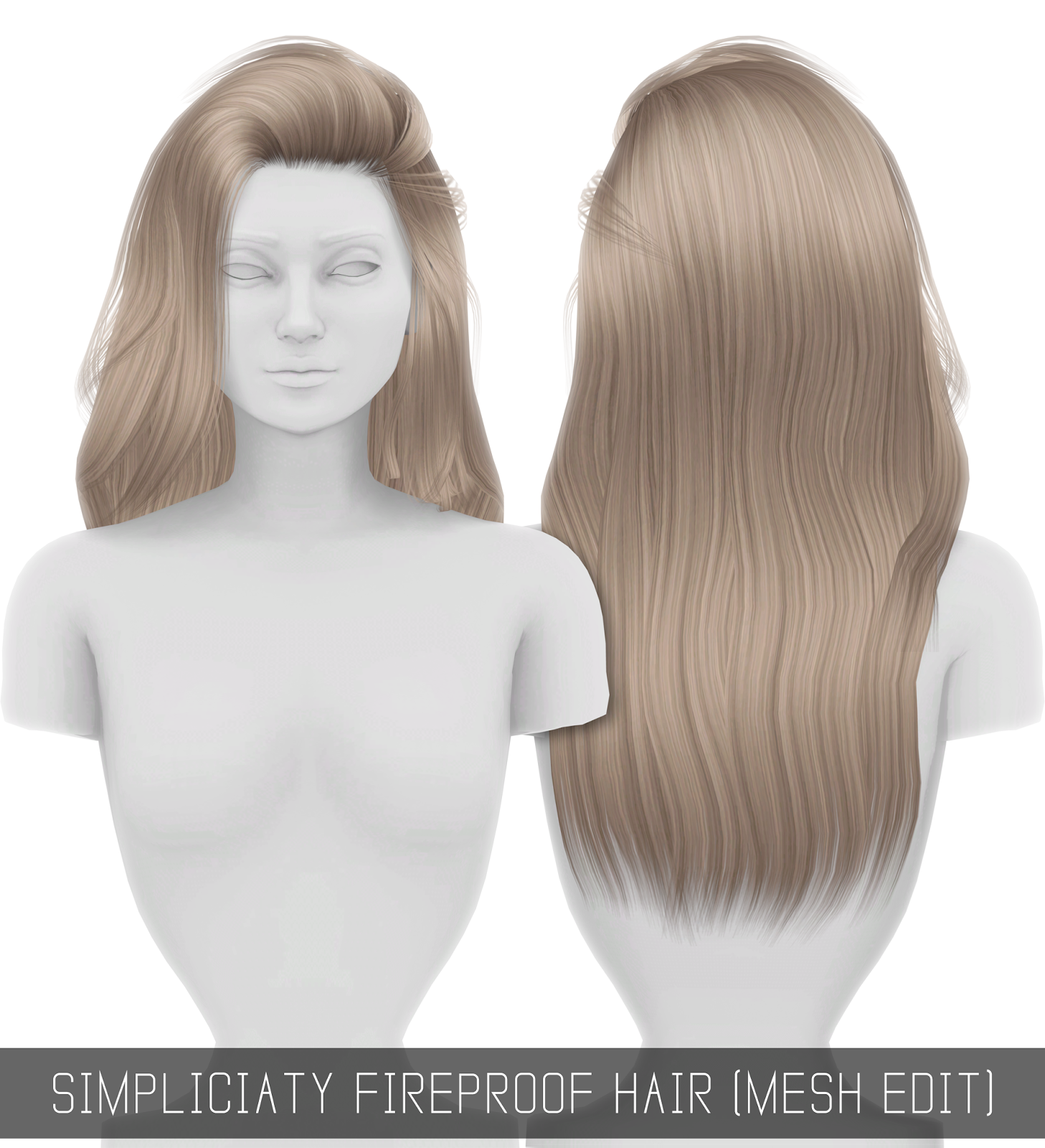 Fireproof Hair Mesh Edit Simpliciaty