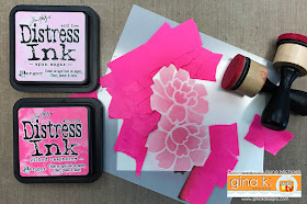 Two Color Stenciling Tutorial by Juliana Michaels using Gina K Designs Stencils and Ranger Distress Ink