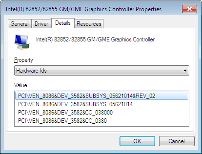 INTEL 82852 GM GME GRAPHICS CONTROLLER WINDOWS XP DRIVER