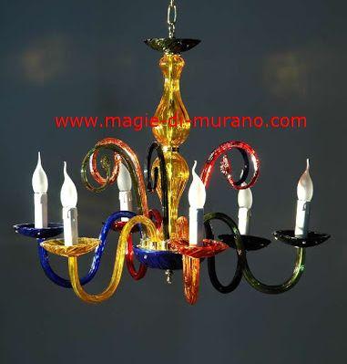 Ricambio per lampadario in vetro di murano rotto. Ca Rezzonico Lampadari In Vetro Di Murano Colorful C