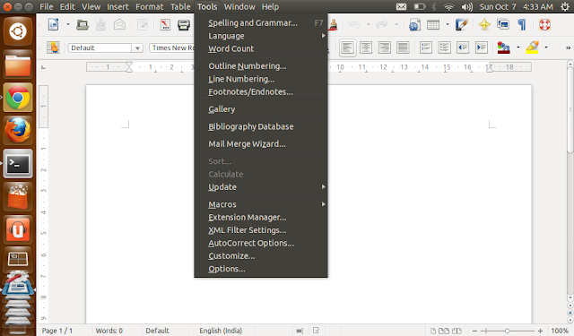 libreoffice gets universal menu integration in ubuntu 12.10