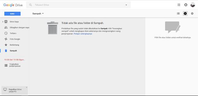 Cara Menghapus File Storage Google Drive Yang Full