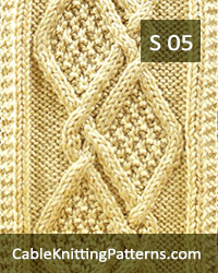 How to knit the Moss Diamonds cable scarf -Free pattern