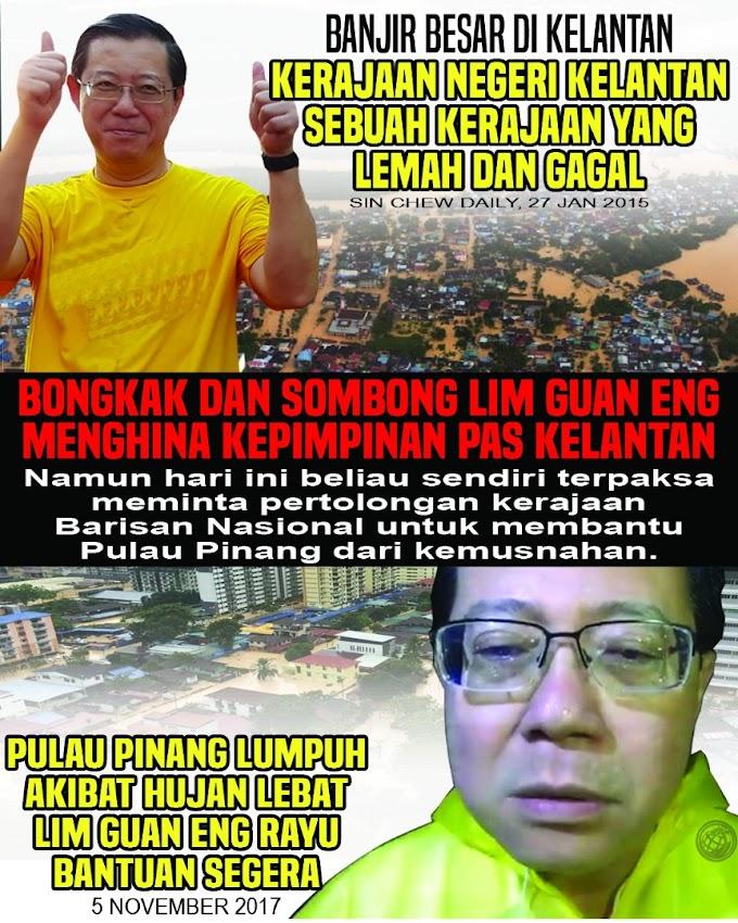 Ego Guan Eng & DAP Punca Banjir Di Pulau Pinang #Pray4Penang