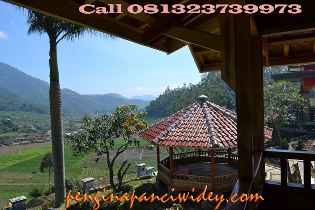 Booking villa di area wisata kawah putih dari tangerang