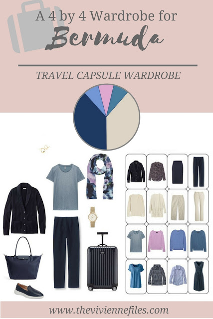 A 4 by 4 Travel Capsule Wardrobe for a Vacation to Bermuda in March