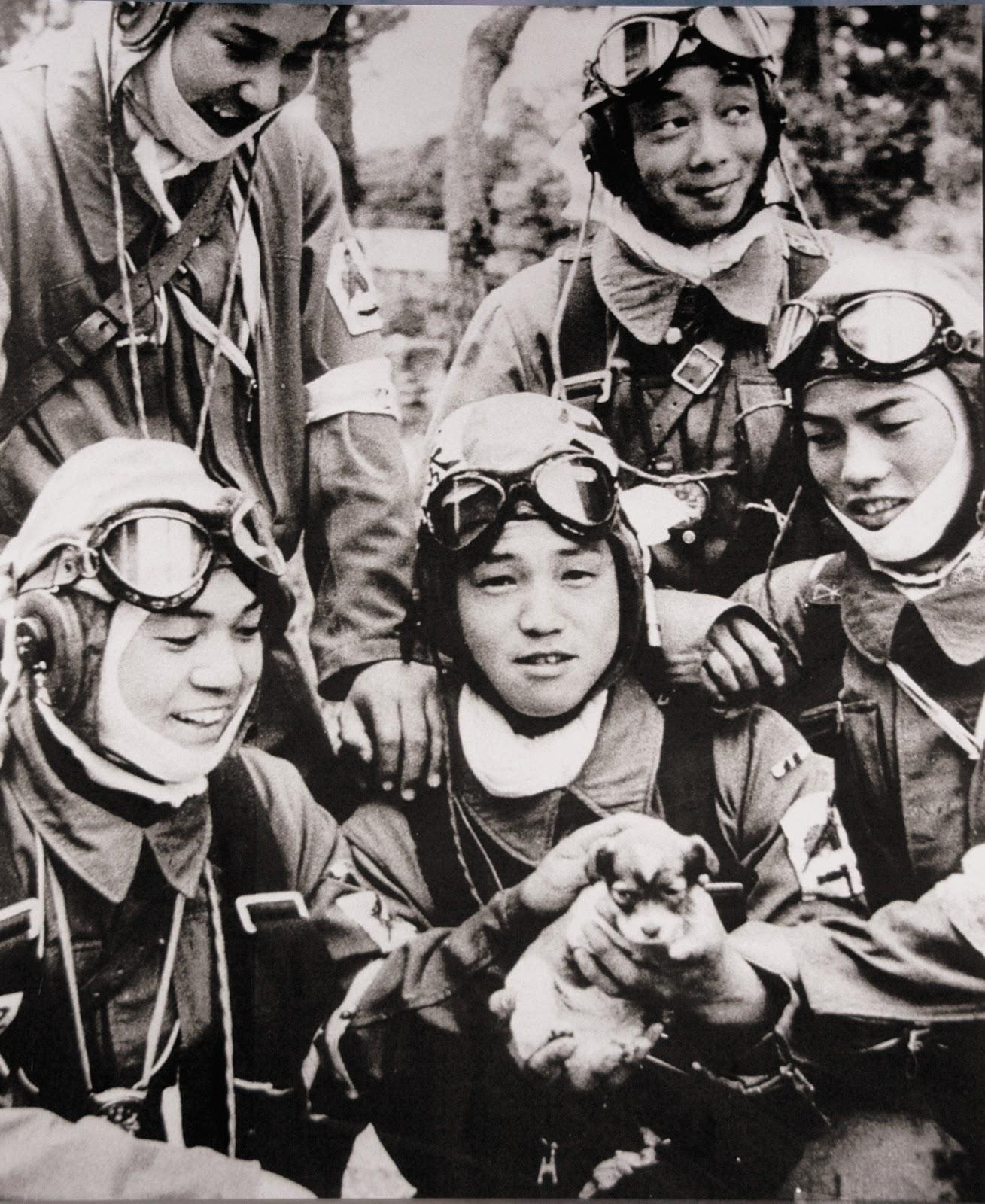 第72振武隊の笑顔の五人の少年兵