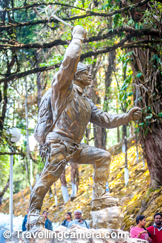 "When people think of mountaineers, it is usually the big names that are discussed. When people talk about peaks such as Mount Everest and Kanchendzunga, names of the support staff, such as the sherpas, go unnoticed. One exception to this, and a trendsetter too, was Tenzing Norgay.  Tenzing Norgay mentioned that he was born Namgyal Wangdi in Khumbu, Nepal on 29 May 1914. Though according to some later accounts, he was born in Tibet and ran away to Nepal to work for a Sherpa family when he was still very young. In fact this was only one of the two times when young Namgyal Wangdi ran away from home. The second time he ran away was to Darjeeling in India. It was here that he discovered the profession that was to make him one of the 100 most influential people of 20th century according to the Time magazine.     At the age of 39, on 29 May 1953, Sherpa Tenzing became one of the two people to scale Mount Everest. He had accompanied Edmund Hillary to the summit. He was well recognized for this feat within India as well as abroad. During this expedition, Hillary had a very close brush with death when he fell into a crevasse. At this time, Sherpa Tenzing showed great presence of mind by using his ice axe to secure the rope just in time.      For this success, Sherpa Tenzing was awarded the George Medal by Queen Elizabeth II. His partners were knighted. Tenzing also earned accolades in Nepal and in India. It was this same Tenzing Norgay, who went on to become the first Director of the Himalayan Mountaineering Institute when the institute was set up in 1954.   In fact it was Tenzing Norgay's successful climb of Mount Everest that led to the momentum that led to the creation of the Institute in the year 1954. It was initially located at Roy Villa at Lebong Cart Road and was shifted to the current location in 1958. It is currently located on a serene hill right next to the Dalhousie zoo. The kanchendzunga can also be viewed from here, though we weren't lucky enough to get that view.     Along with the Institute there is a museum too that is an interesting place to visit. Here you can see the dresses that were worn during various exhibitions and look at the tools and techniques that the mountaineers use while climbing. At the museum, you can also buy mementos such as a swiss knife or a small torch.  You will find tourists of all age groups roaming around the grounds. Many of them flow in from the Zoo nearby, but there are many who come here to see the institute because it has become a very popular tourist attraction in its own right. The apt and motivating quotation ""May you climb from peak to peak"" greets the visitors and sets the expectations for the visit.  It was the first Prime Minister of India, Pt Jawaharlal Nehru who laid the foundation stone of the Himalayan Mountaineering Institute. The date was November 4th, 1954. The stone can still be seen here. Also the statue of the mountaineer Tenzing Norgay and other mountaineers.  The Himalayan Mountaineering Institute offers several Mountaineering courses to enthusiasts. It is thanks to such initiatives that adventure sports are not only becoming popular, but also a viable career choice for those so inclined. As far as sports are concerned, the society continues to evolve and though there is a long way to go, we must not forget to thank pioneers such as the sherpas who have made mountaineering possible in the Himalayas."