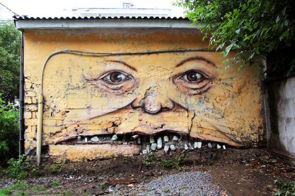 الفن بأى شىء وعلى أى شىء street-art-work-35.j