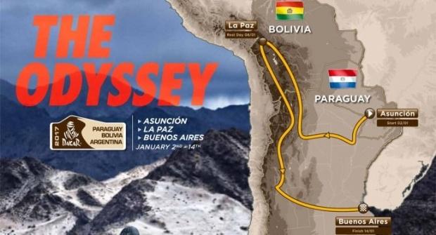 Paraguay, Bolivia y Argentina, escenarios del próximo Dakar 2017