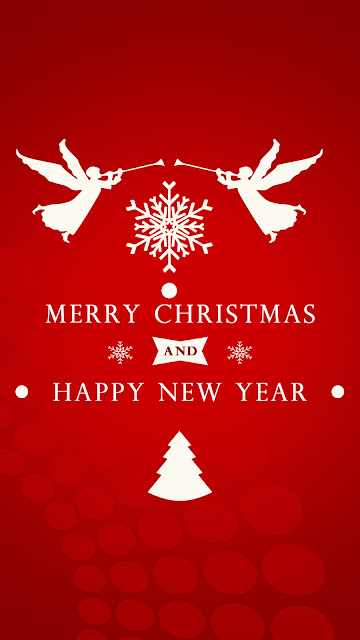 wish you merry christmas angel mobile wallpaper