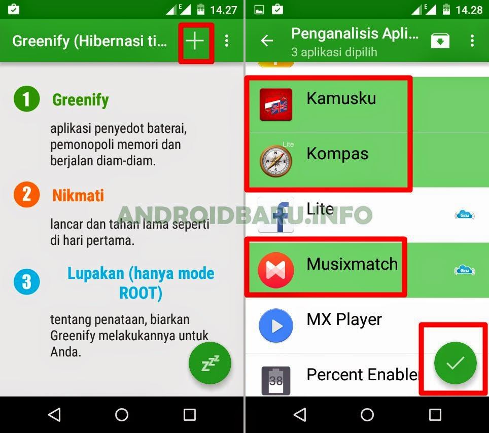 Cara Instal Greenify di Android No Root dan Setting Greenify-nya