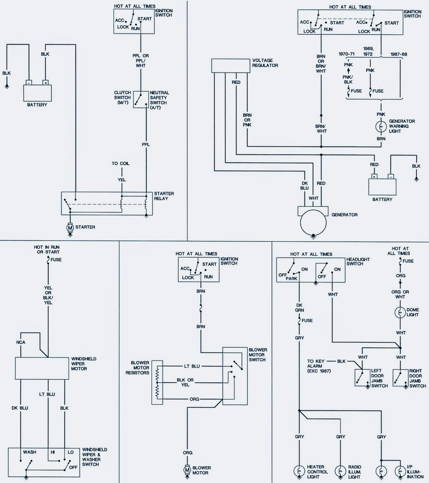 1968 Chevrolet camaro Wiring Diagram | Electrical Winding