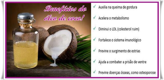Óleo de coco,benefícios do óleo de coco,emagrecimento,reeducação alimentar,reduz colesterol,compulsão alimentar,acelera o metabolismo,previne envelhecimento