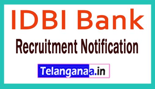 IDBI Bank Limited Recruitment Notification