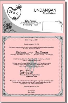 undangan akad nikah wahyudin