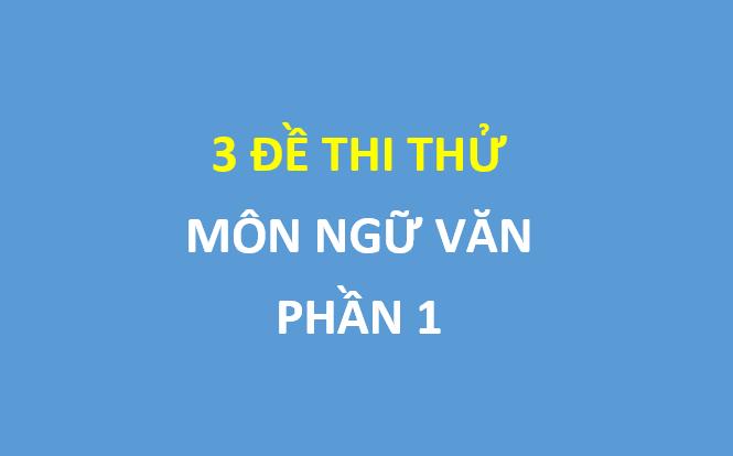 P1 - 3 đề thi thử ngữ văn , có đáp án