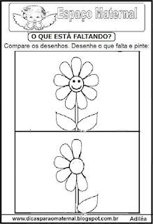 Completando desenho flor